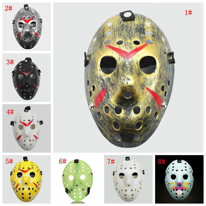 Masquerade Máscaras Jason Voorhees Máscara sexta-feira 13 Horror Hockey Filme Máscara Máscaras traje Scary Halloween Cosplay partido plástico DBC BH3963