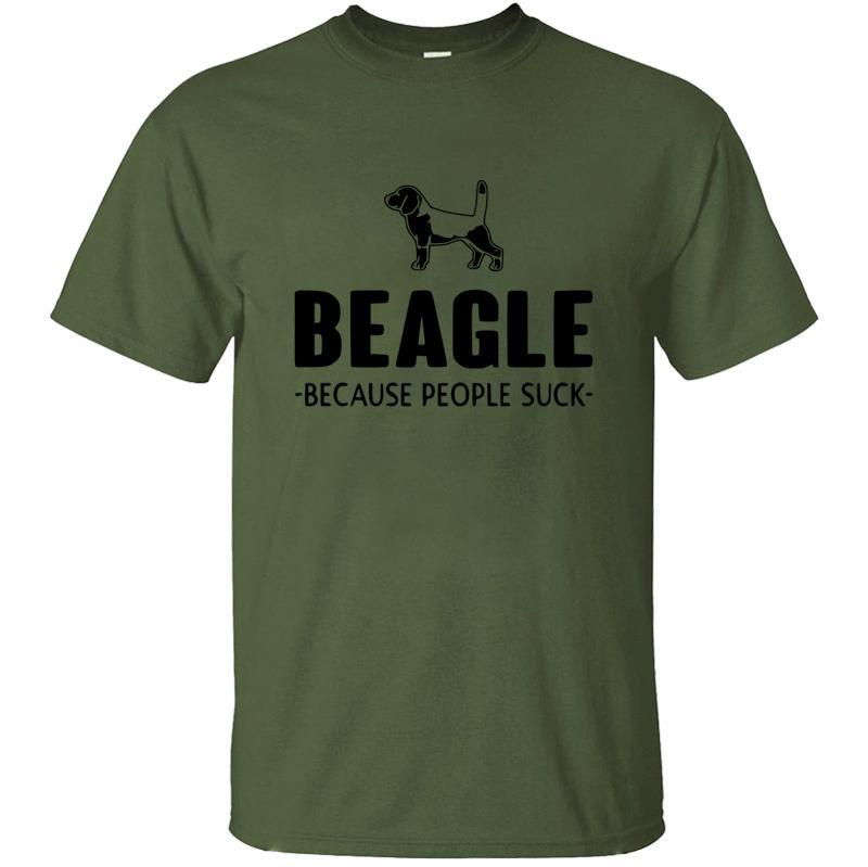 Unisex transpirable Beagle Debido a la camiseta para los hombres 2020 de Big encargo del tamaño S ~ 5XL Natural Camiseta de los hombres de calidad superior famoso Humorístico