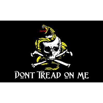 gros prix usine directe 100% polyester 3x5fts 90 * 150cm crâne d'os double sur le noir Crâne Gadsden drapeau pour la décoration