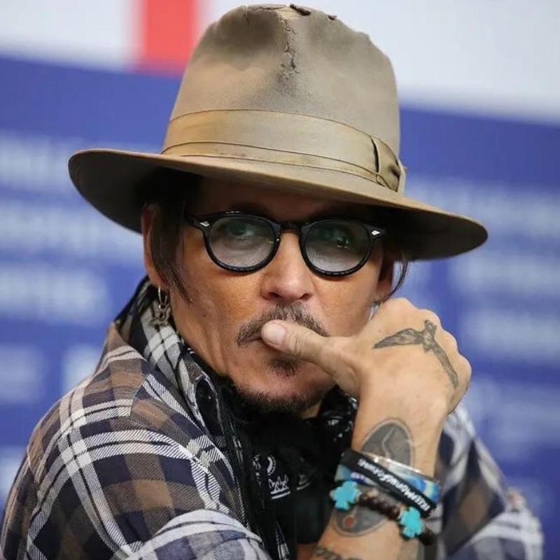2020 Retro Johnny Depp style Lunettes Hommes Classique Vintage Lunettes femmes okulary lentille claire