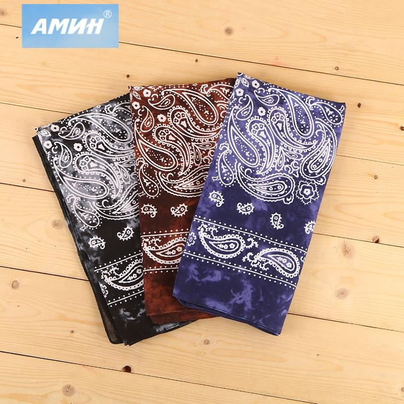 Oo3RE Cotton printed large cashew flower sports towel towelscarf paisley tie-dyed square scarf Japanese large square towel