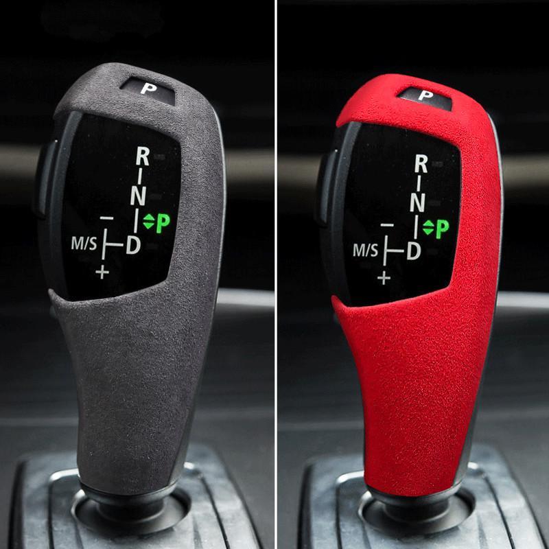 BMW E60 E70 E71 X5 X6 5 Serisi için Alcantara Süet Paketleme Koruyucu Kapak ABS Vites Topuzu Trim Kapak Araba İç Çıkartma