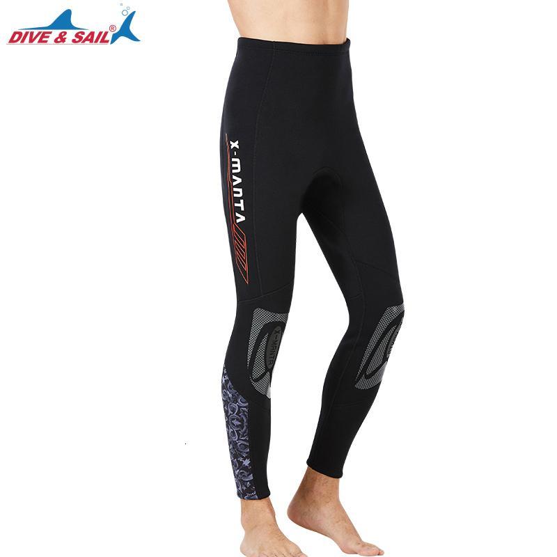 Erkek Kadın Dalgıç Yüzme Pantolon - Dalış Skins Sıkıştırma Swim Kanosu kürek çekmeye Surf Tayt Tayt Pantolon UPF50 + Güneş UV 3mm