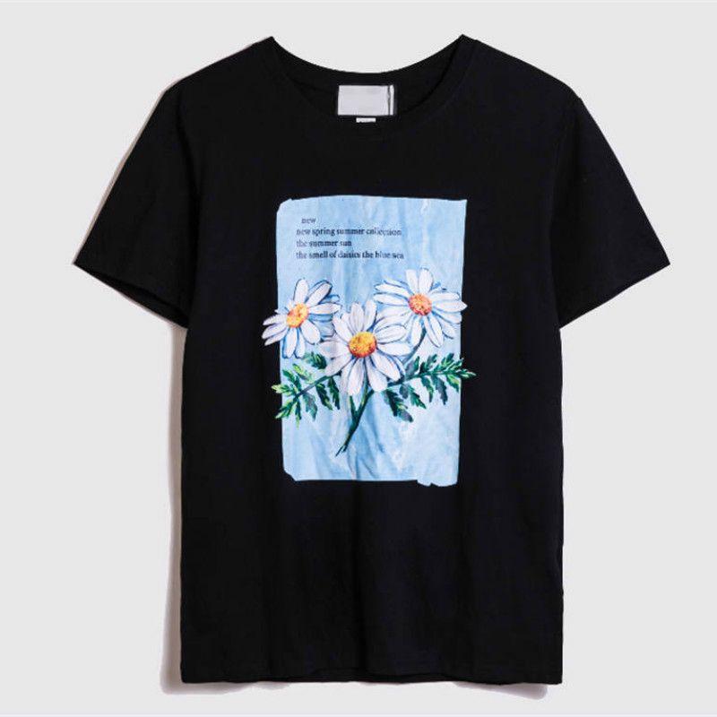 GXXXI ITALIE Hauts pour hommes d'été T-shirt Casual Couple Tide Vêtements T-shirt motif fleur T-shirt décontracté Vêtements pour femmes Taille asiatique S-2XL