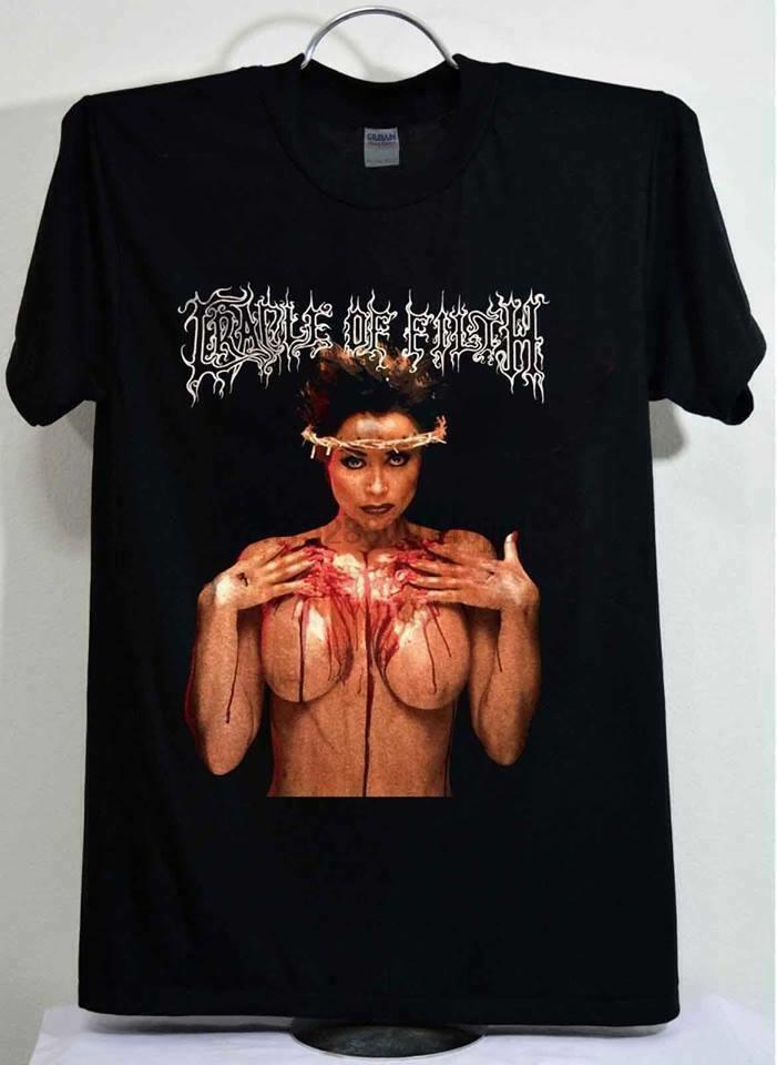 Cradle of Filth Vintage 90 Praise The Whore 1995 Reprint T Shirt Nova (1)