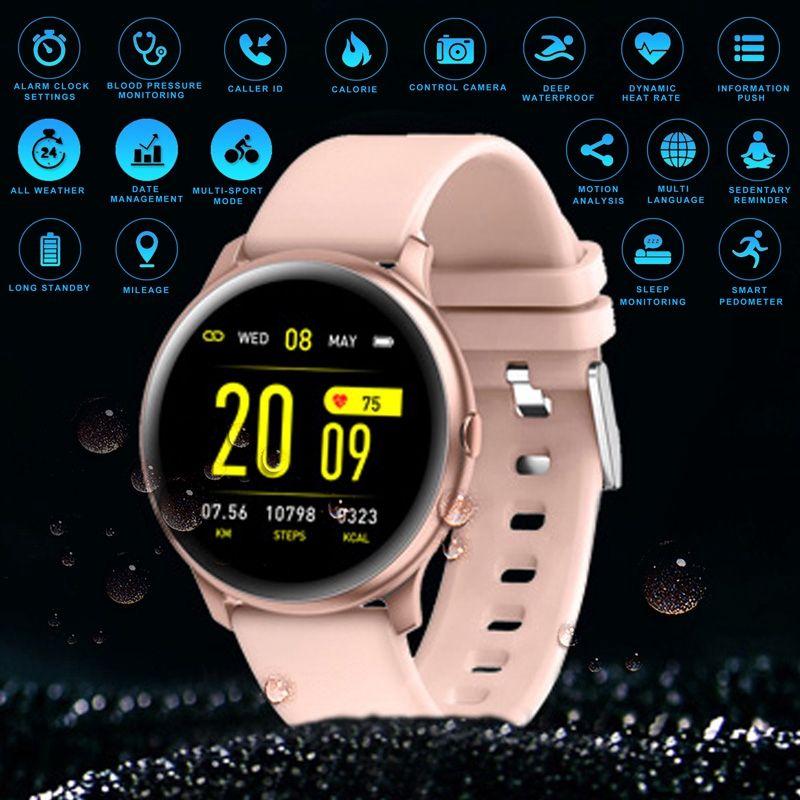 Новый Ультратонкий Oxygen Смарт Часы Heart Rate Blood Sport Fitness Trakcer Bluetooth SmartWatch для Android IOS телефона