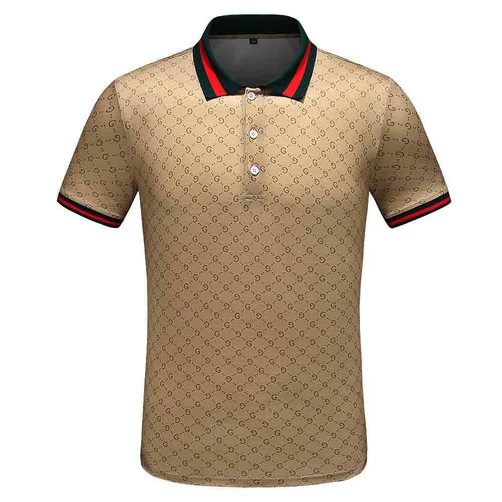 Frühlings-Luxus Italya Tişört Tasarım-Polo-Hemden High Street-Stickerei-Strumpfband-Schlangen Kleines Bienen Baskı-Kleidungs-Erkek-MARKEN-