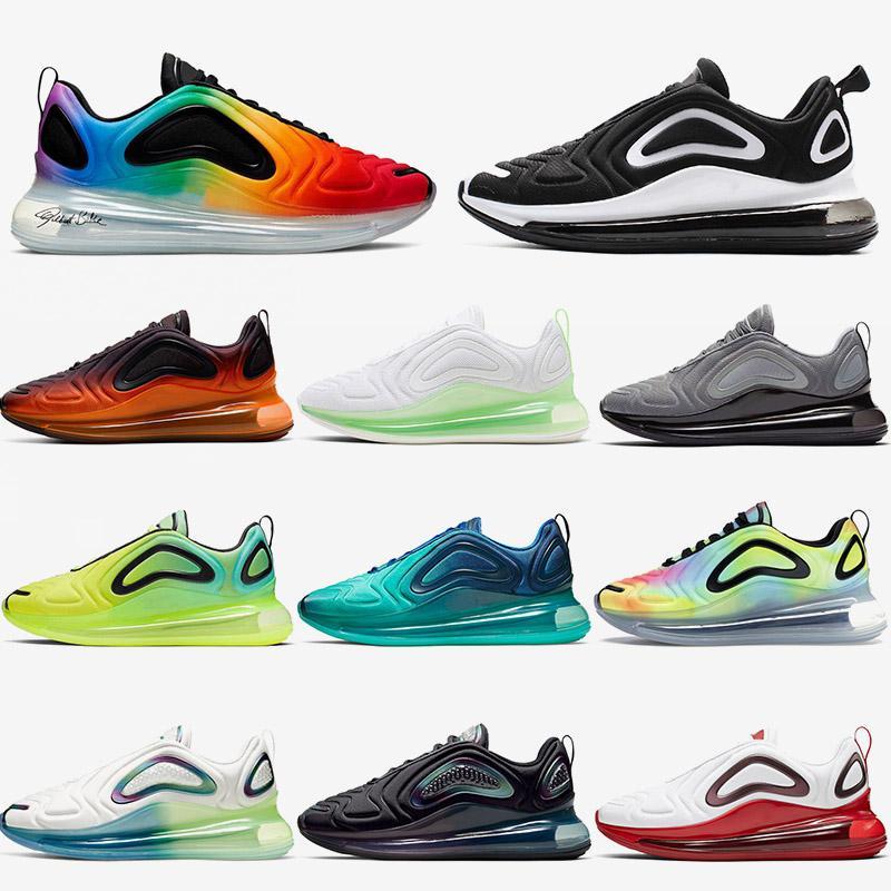 nike air airmax max 720 Mens zapatillas de deporte zapatos para correr verdaderas blanco negro gris fresco Naranja Rosa explosiva Nocturna 72c entrenadores deportivos para mujer