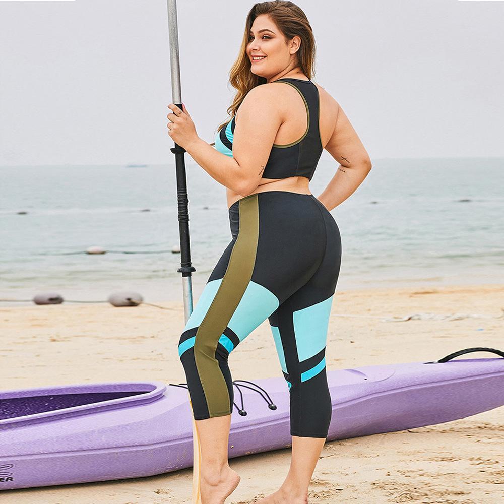 рынк дизайнер большого размера серфинг костюм раздвоение консервативных купальник 2-х части набора 412130