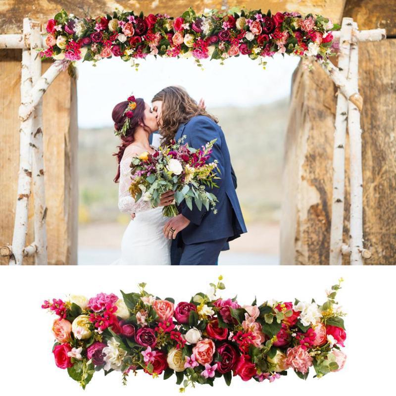 FENGRISE 1M Seda Rosa Peonia Hortensia CITADA flores artificiales para la decoracon del Hogar de la boda