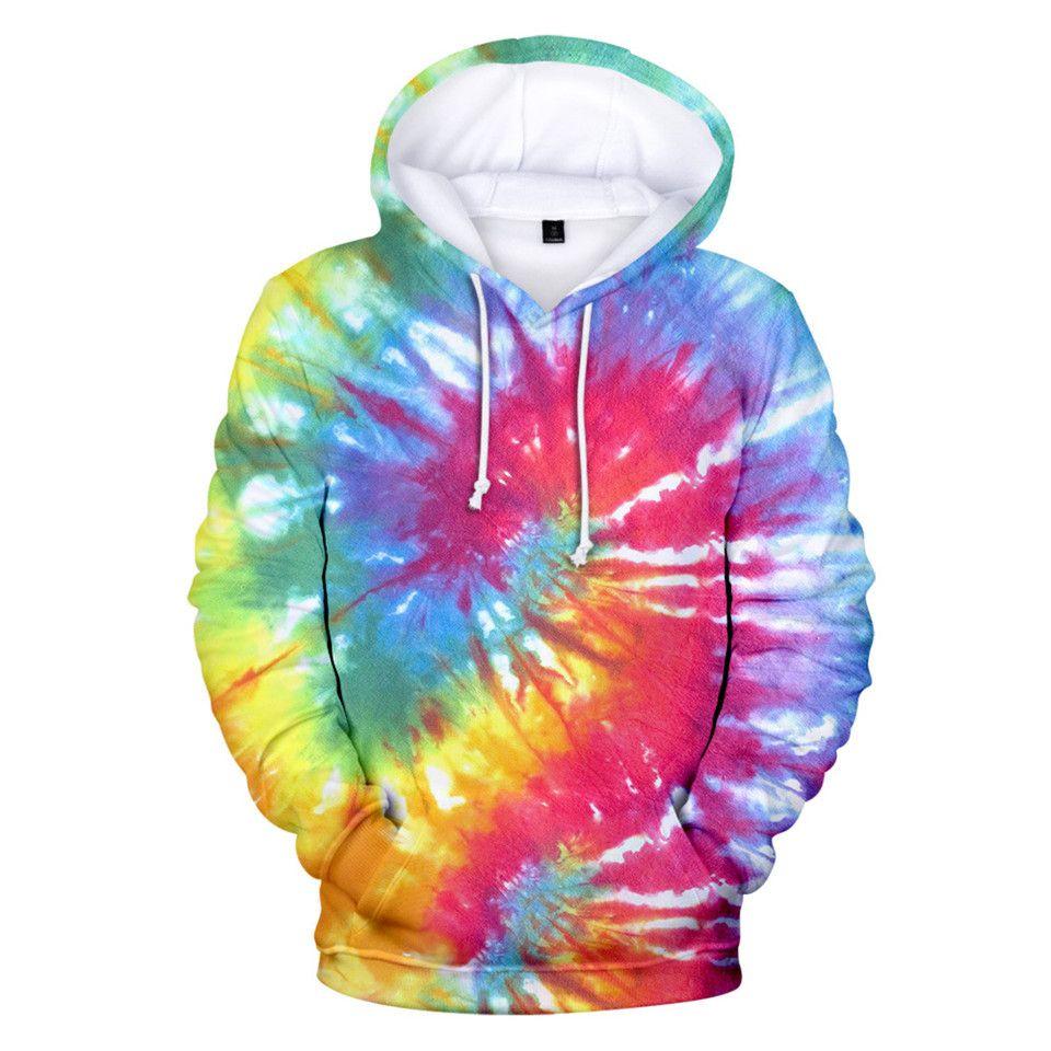 3D Imprimé Tie Dye Flashbacks à capuche Femmes Hommes Sweats à capuche coloré psychédélique Sweat filles surdimensionnée Pull Veste Vêtements MX200808