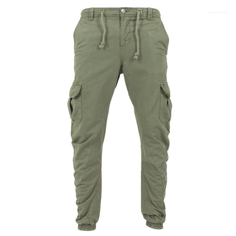 Resorte del otoño Casual Gran Pocksets Pantalones Pantalones estilo del basculador de la UE Hommes Harajuku diseñador de los pantalones pantalones para hombre de Carga