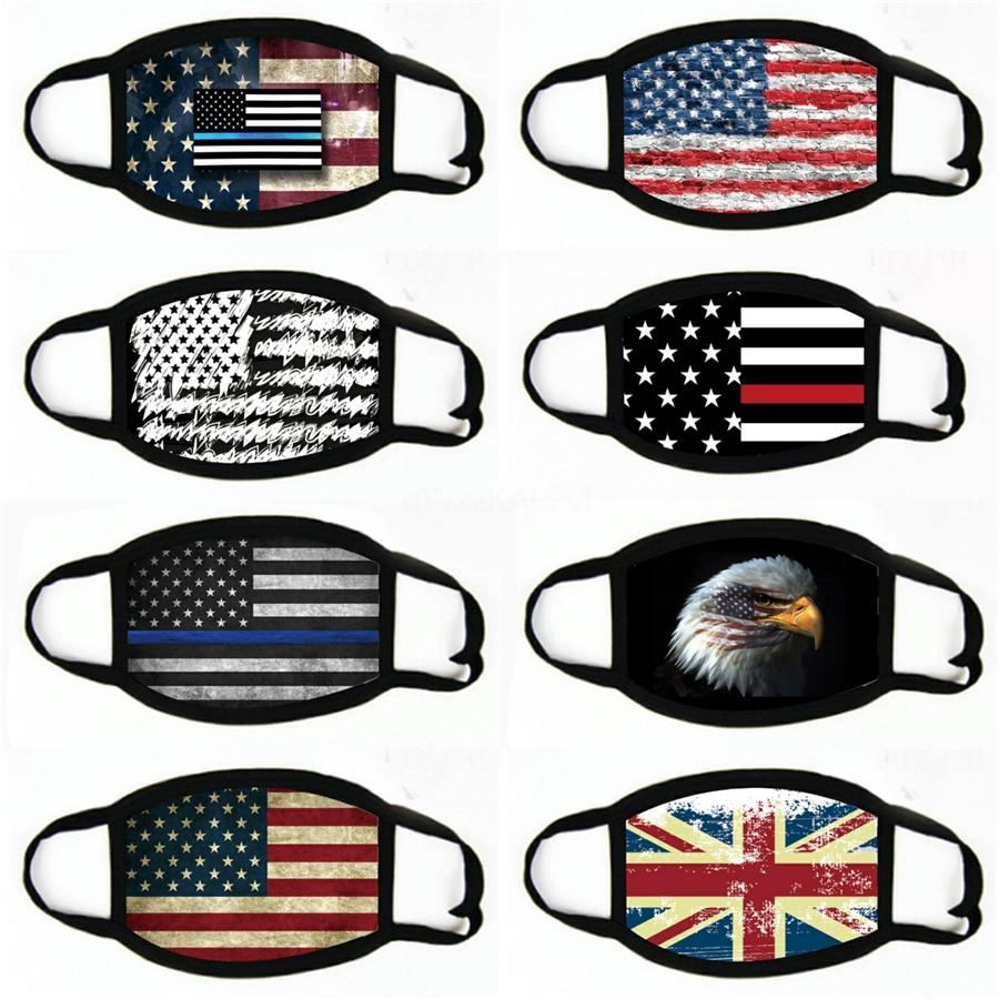 Bandeira dos EUA Hot Magia Lenço Bandana Ciclismo Máscaras Chefe Cachecóis Windproof Esporte camouflag Máscara Facial # 599