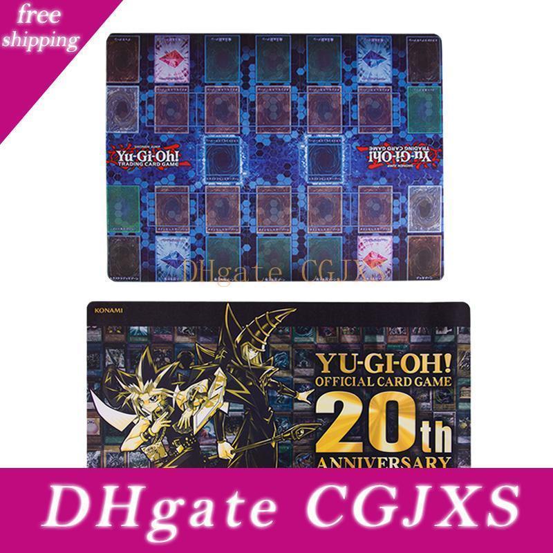 Cartão especial Gold Card Yu Gi Oh 20th Anniversary limitada Cartão Oficial Pad Preto Pad Mestre Regra 4 Pad 2 Pessoas Format Oficial