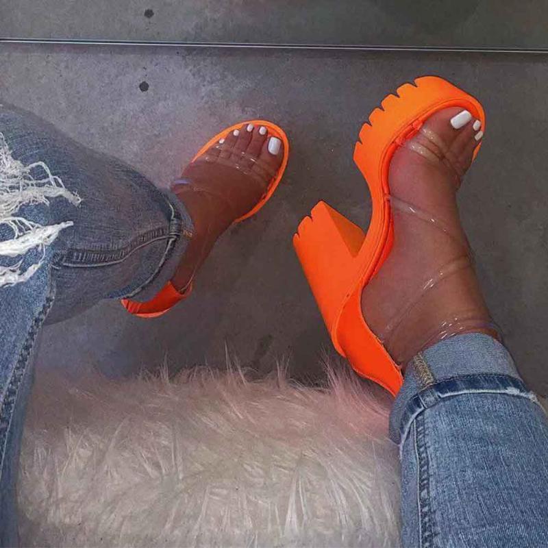 EVA молнии Закрытие Ежедневно Толстые Soled Soft Travel Водонепроницаемая платформа Женщины высокой пятки сандалии партии Sexy Open Toe Summer Beach