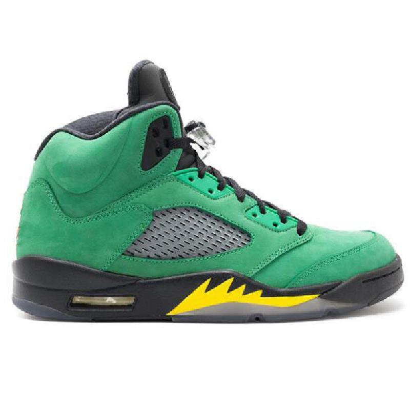 Con la scatola 5 What The Fire Red 5s Oregon anatre Mens Basketball Shoes 13s 13 3M fortunato verdi Flint Sport Sneakers veloce Shippment