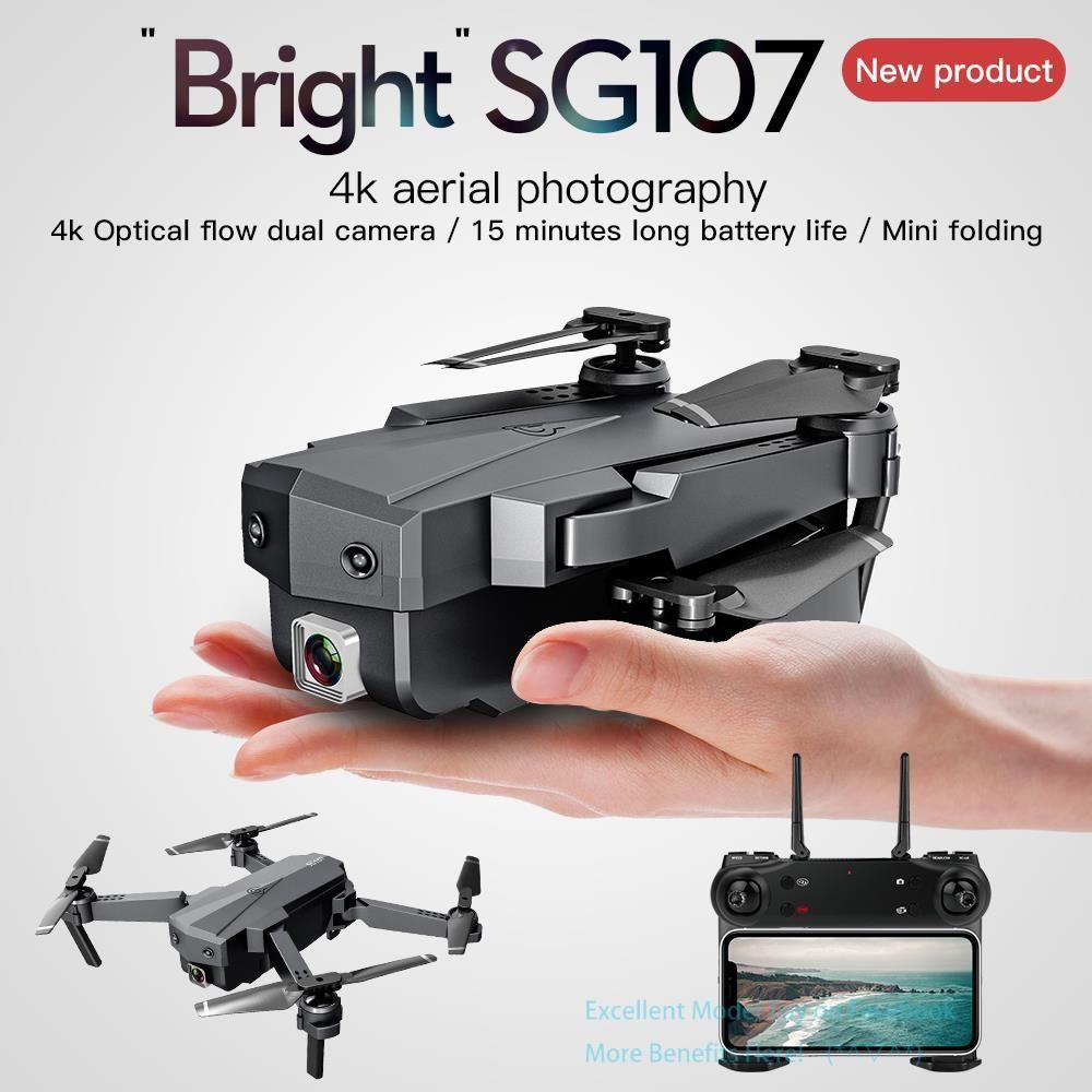 SG107 4K كاميرا مزدوجة wifi fpv المبتدئين الطائرات بدون طيار طفل لعبة، وضع التدفق البصري، الارتفاع عقد، ذكي متابعة، لفتة التقاط الصورة، 2-2