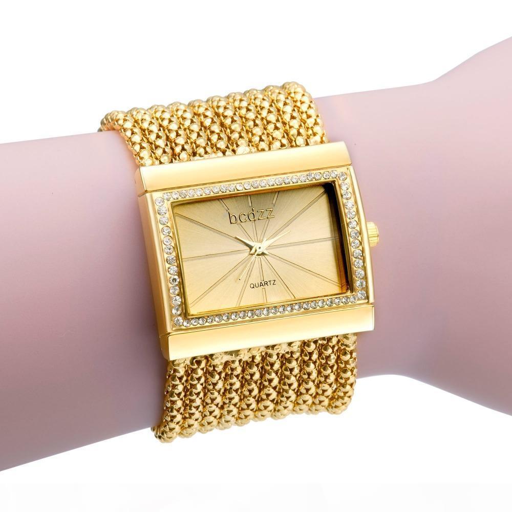 Diamante pulseira relógio mulheres Bling Cristal Relógios Vintage Wedding formal do partido de quartzo relógio de forma Relógio Femilino Uhr