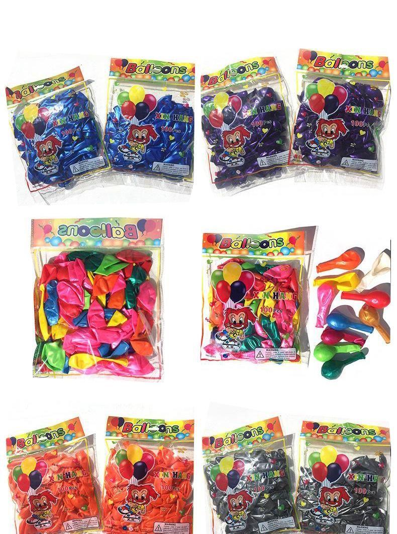 Şeker renkleri 10 inç topları Pembe Kırmızı Mavi Beyaz Balon Doğum Balonları Smooth balon lateks