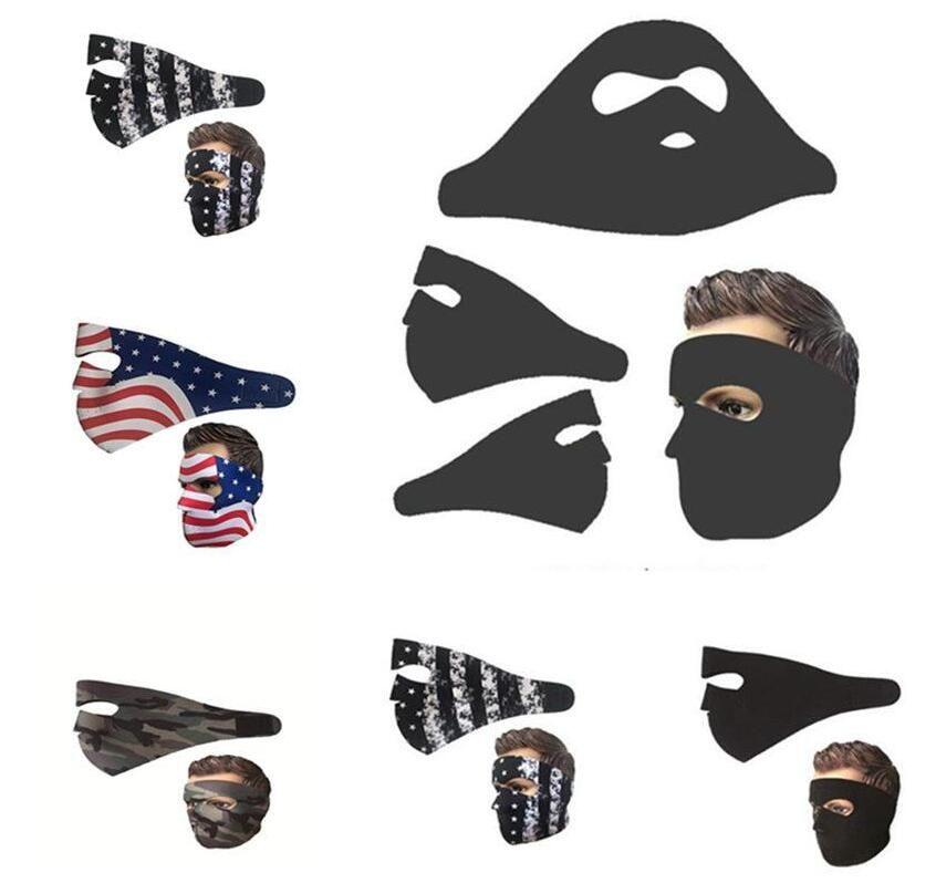 Маски Флаг США Камуфляж для лица Маски Спорт на открытом воздухе на лыжах Мотоцикл маска Moutaineering Велоспорт Щит пыле Взрослый Рот Обложка AHA837