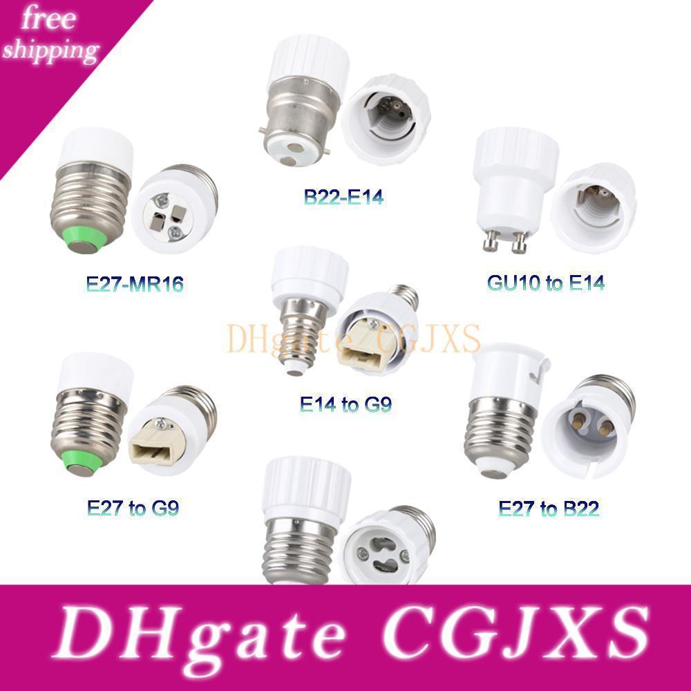 E27 Lamp Holder Converter Socket E12 E14 Gu10 G9 B22 Mr16 Led Base Conversion Holder Adapter Y Shape Splitter Fireproof For Home