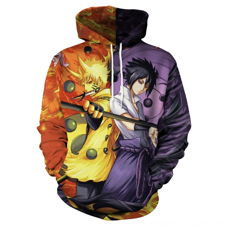 TdRKQ 3d 2019 Pullover Pullover Naruto 80v5T Anime peripheren cospaly digitalen Pullover mit Kapuze Strickjacke Druck