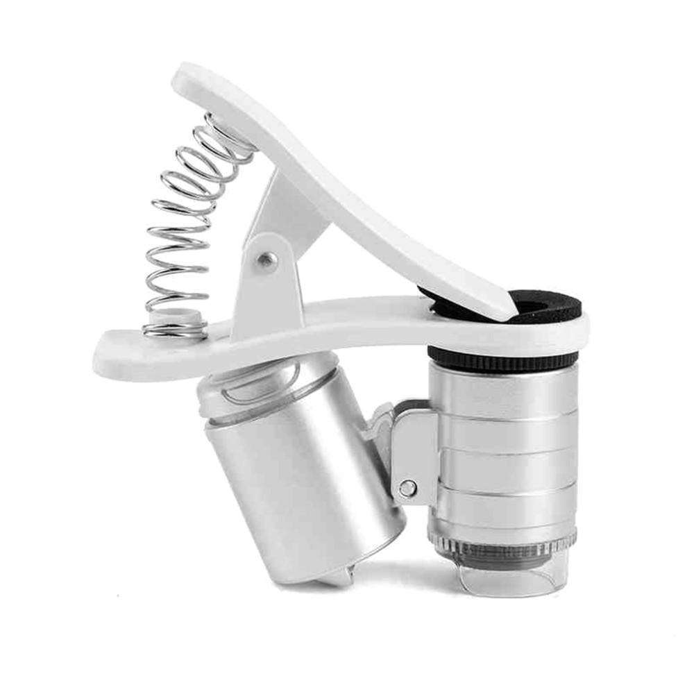 Fashion Mini Money Tester 60X Pocket Microscope Magnifier Loupe Glass LED Light UV with clip Mini Money Tester