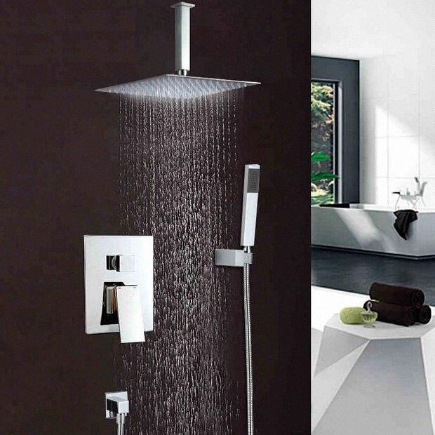 BECOLA Brausegarnitur in der Wand Art Dusche Wasserhahn Copper Vier-Augen-tap Air oberer Injektionstypen 10 inch Kopf wz9W # besprühen