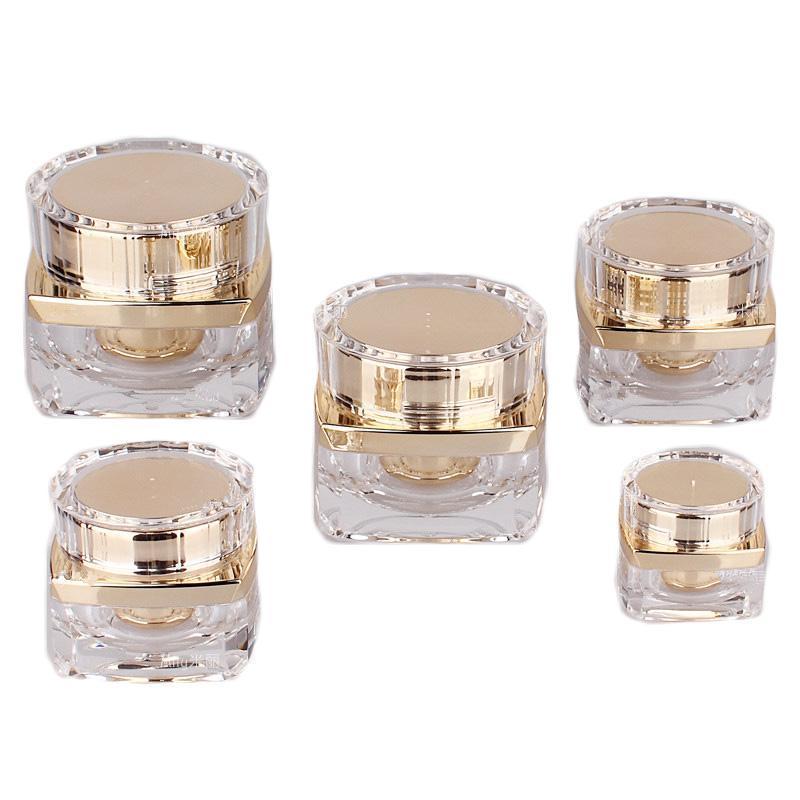5g 10g 20g 30g 50g Top Grade Acrílico claro garrafa vazia frasco Eye Gel Batom amostras vazio Cosmetic Containers