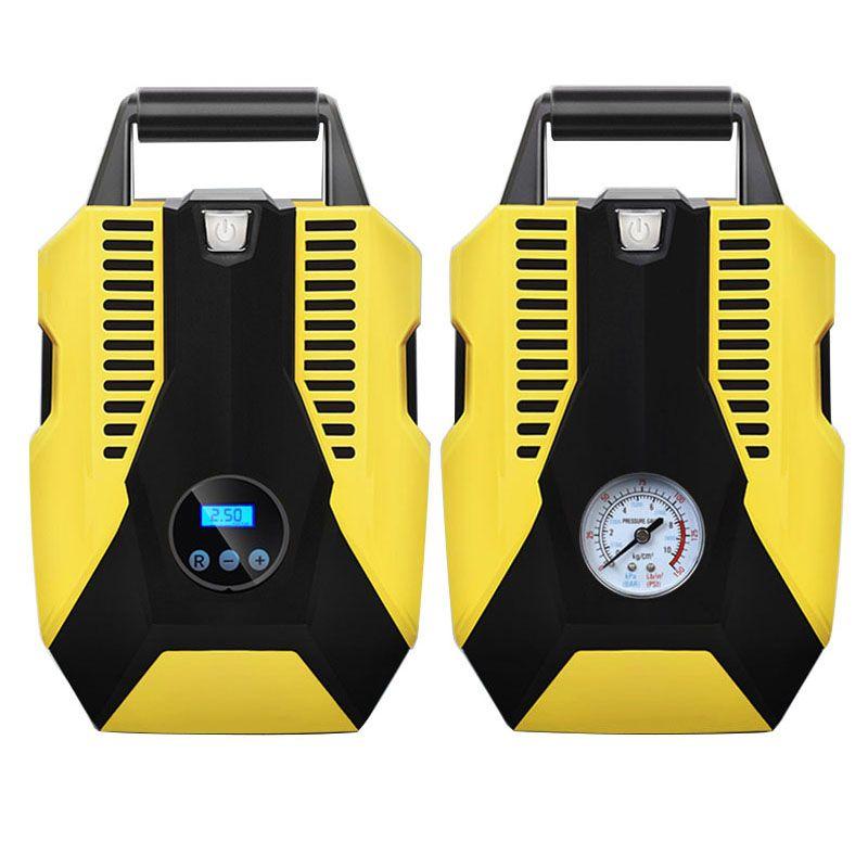 Portable digital mechanical watch 12V car air compressor pump 150 PSI tire inflator steam cigarette lighter plug car motorcycle