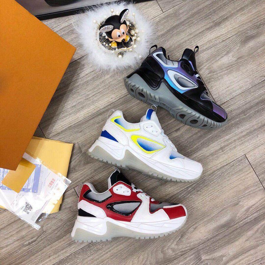 Lusso Sneaker Designers Run Away Pulse pattini casuali di colore rosso formatori 2021 Nuova Run Away Pulse Scarpe Uomo Casual Shoes