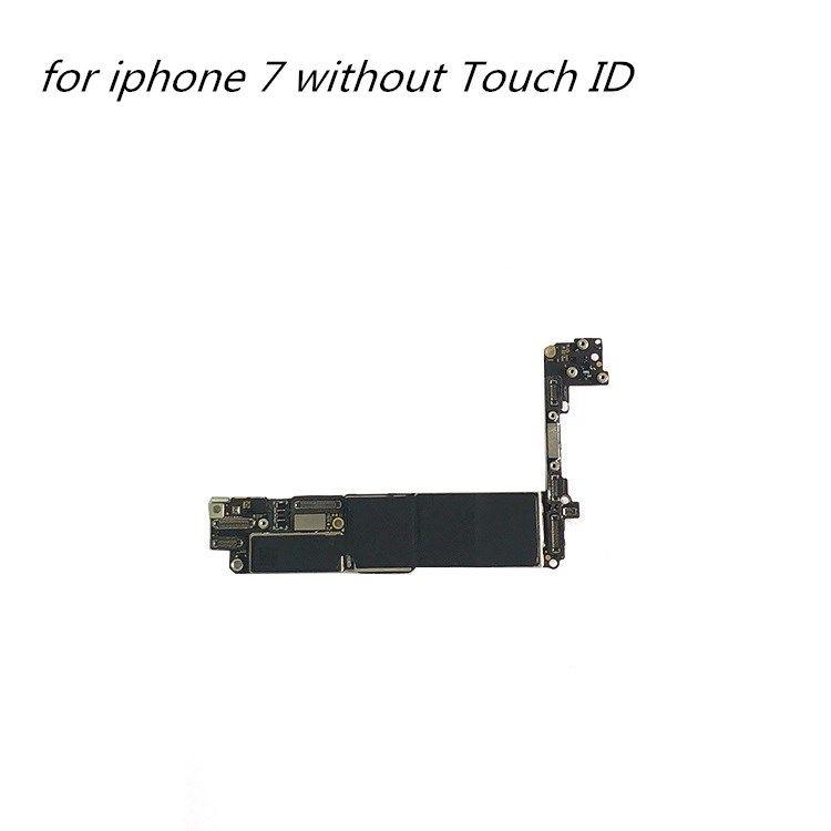 Peças da placa-mãe do telefone móvel para o iPhone 7 sem o idio principal desbloqueado do ID do toque para o quadro lógico do iPhone 7 1 pcs