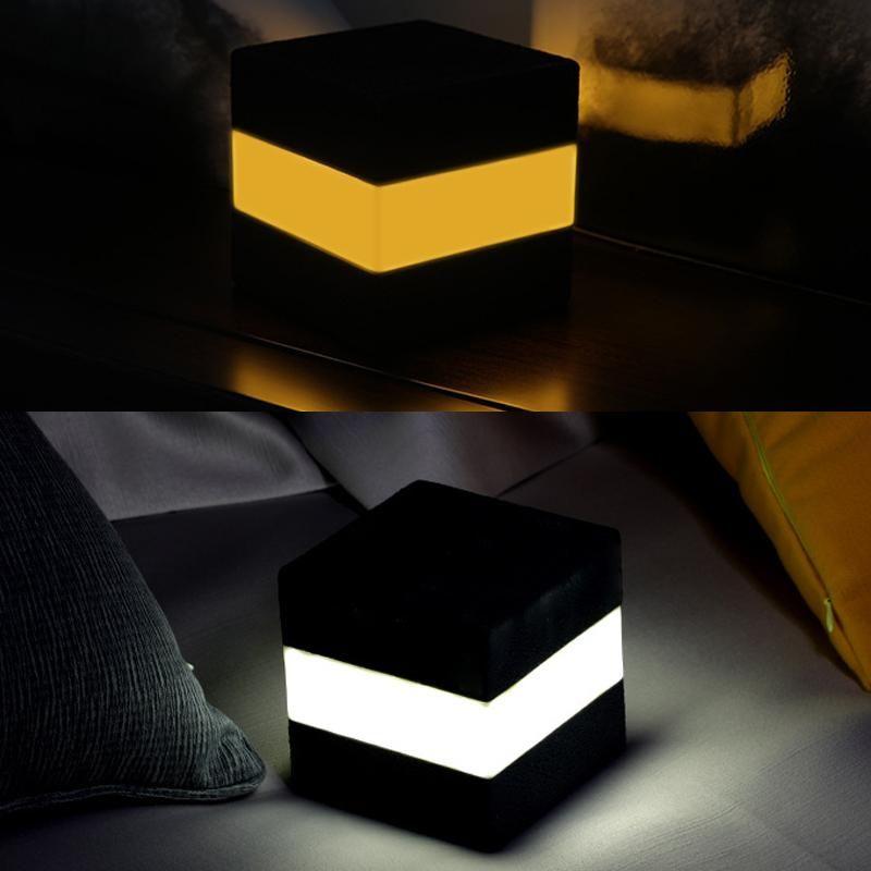Touch Control-Nachtlichter LED-Schreibtisch-Tabellen Nachttischlampen Batterie USB aufladbare Lichter Platz Nacht für Wohnzimmer Wohnkultur