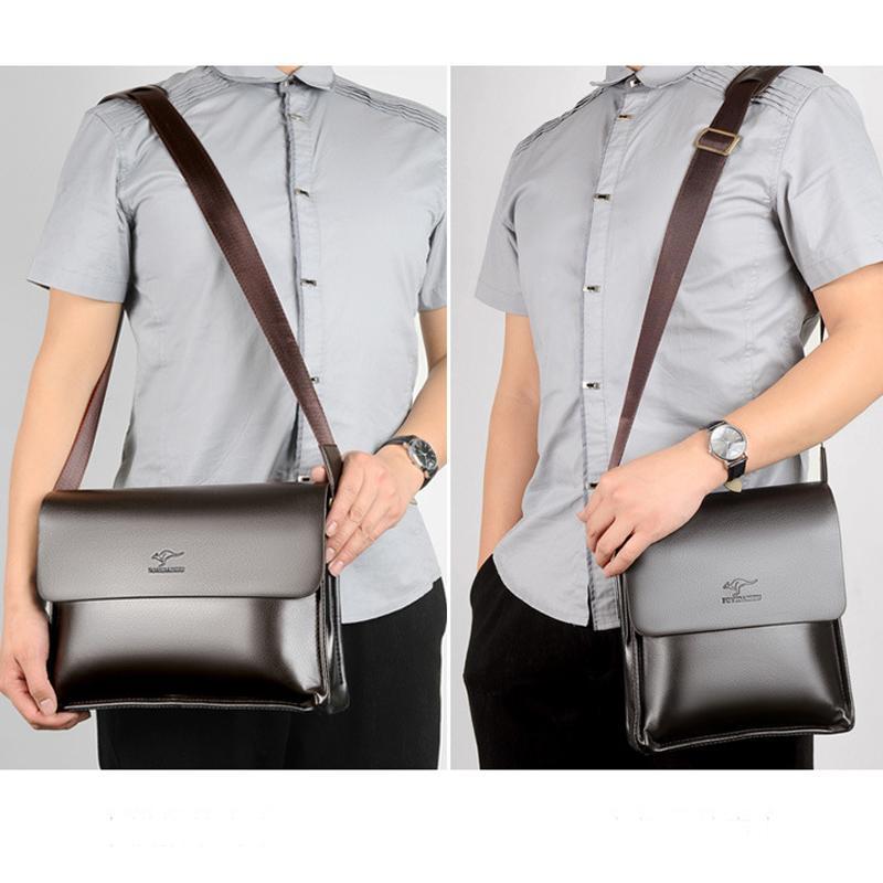 Borsello in pelle di canguro uomini sacchetto di modo di spalla dell'unità di elaborazione del messaggero degli uomini borse vintage casual Designer Borse Uomo Borse