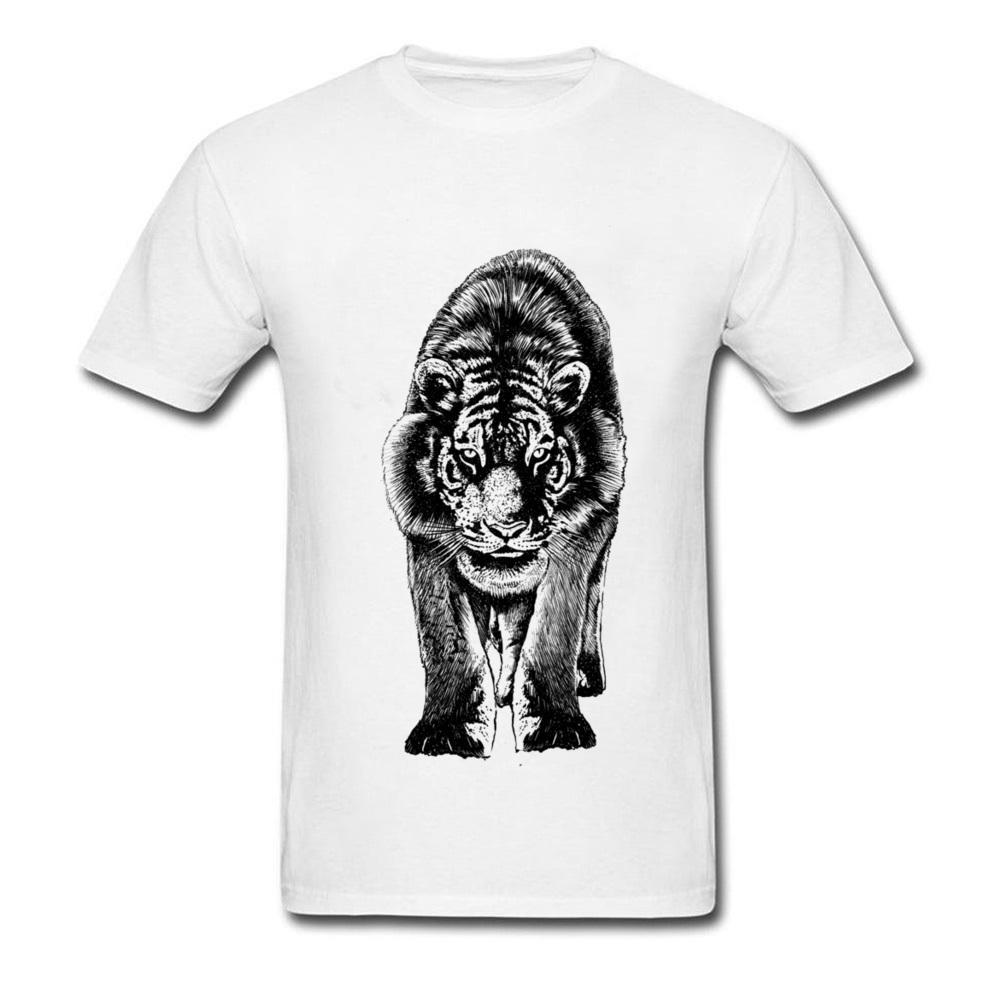 Beast Stare Rainbow Six Siege Tiger T Shirts Männer lustiges T-Shirt Weiß African Tribe Tiger auf T-Shirts T-Shirt