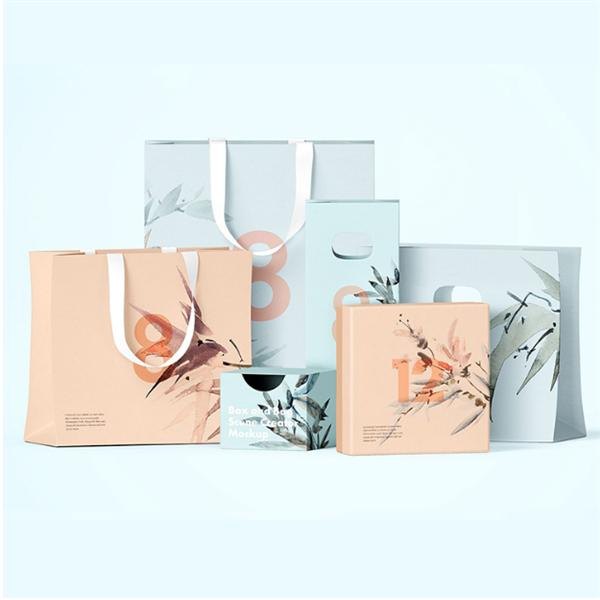 DIY Custom Logo Print Shopping Paper Bag Clothing Shoes Packaging Cheap Washable Gift Paper Bag Shoes Garments Shipping Box Gift Wrap