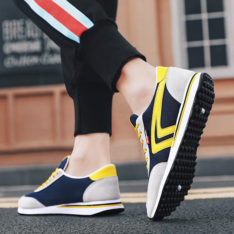 2020 zapatos de los nuevos hombres de la moda transpirable zapatos cómodos de los deportes de resistencia al desgaste de senderismo de los hombres de los hombres ocasionales de funcionamiento