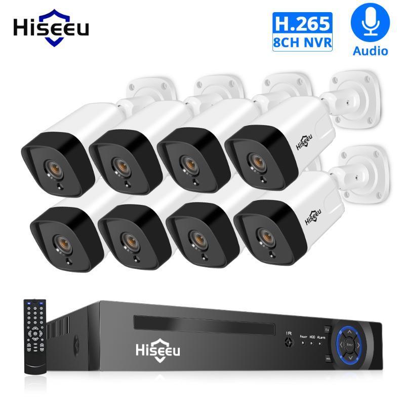 H.265 الصوت 8CH 1080 وعاء poe nvr cctv نظام الأمن 4 قطع 2mp سجل poe IP كاميرا الأشعة تحت الحمراء فيديو المراقبة كيت 1TB HDD