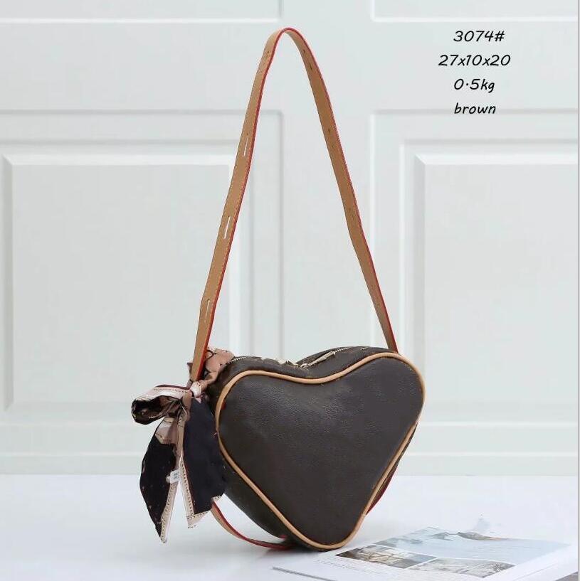 Ünlü Moda Aşk Bayanlar Crossbody Kalp şeklinde Çanta Cüzdan Çanta Omuz Sikke Çanta