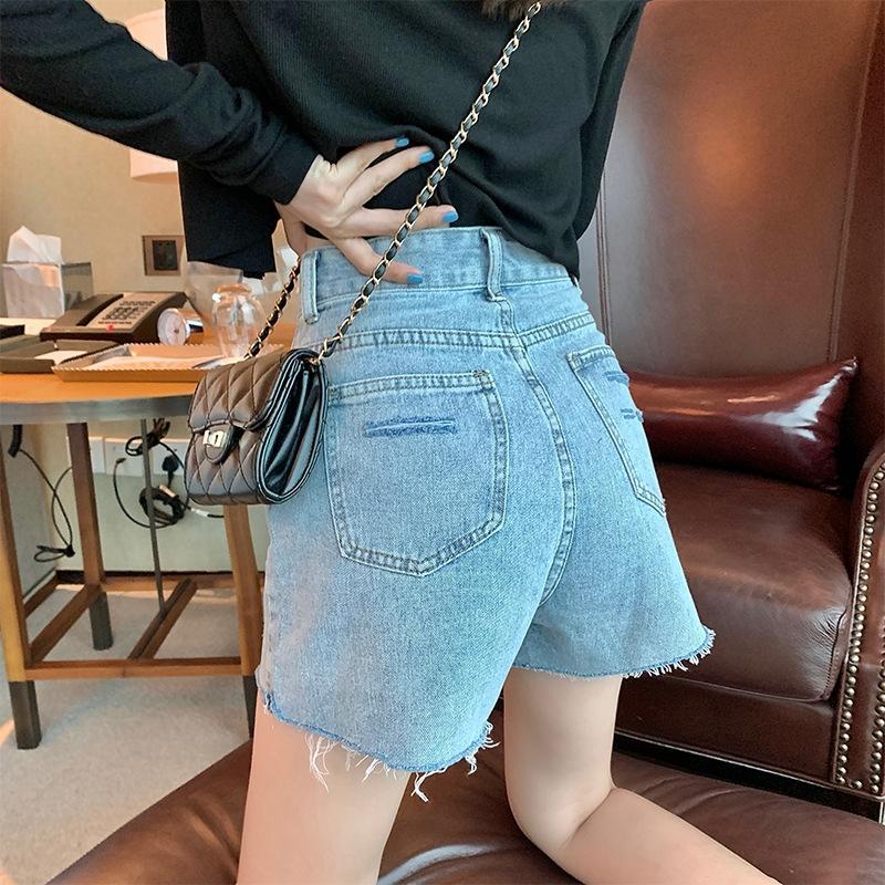 jl9HO pantalones cortos de mezclilla pantalones cortos de la pierna ancha de alta cintura de las mujeres que adelgaza la nueva línea de verano suelta A- pantalones de pierna ancha ins estudiantiles pantalones calientes 2020 de la moda