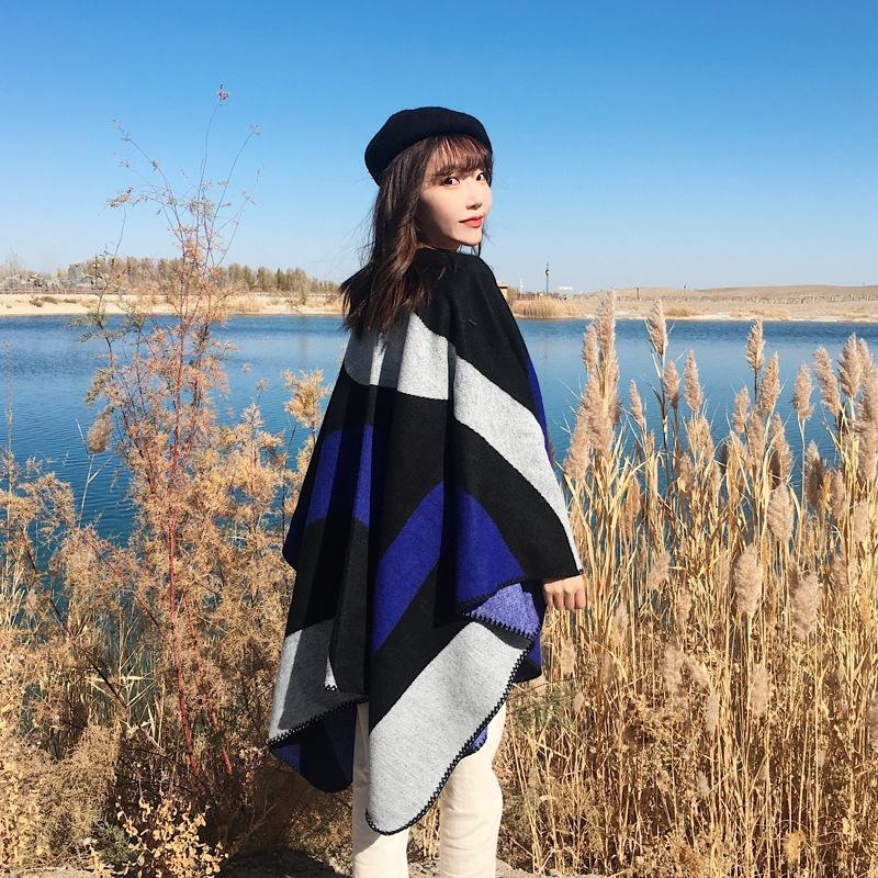 tdKHv New coreana curso estilo cachecol xale dupla finalidade outono e inverno quente de verão casaco capa das mulheres Scarf manto Manto cloakthickened todos-