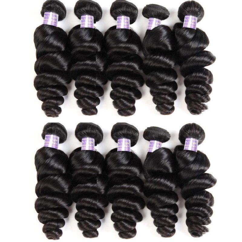 الجملة بيرو العذراء الشعر فضفاض موجة 1KG 10PCS غير المجهزة ريمي الشعر التمديد الإنسان حزمة البشرة الانحياز قص الشعر من واحد معط