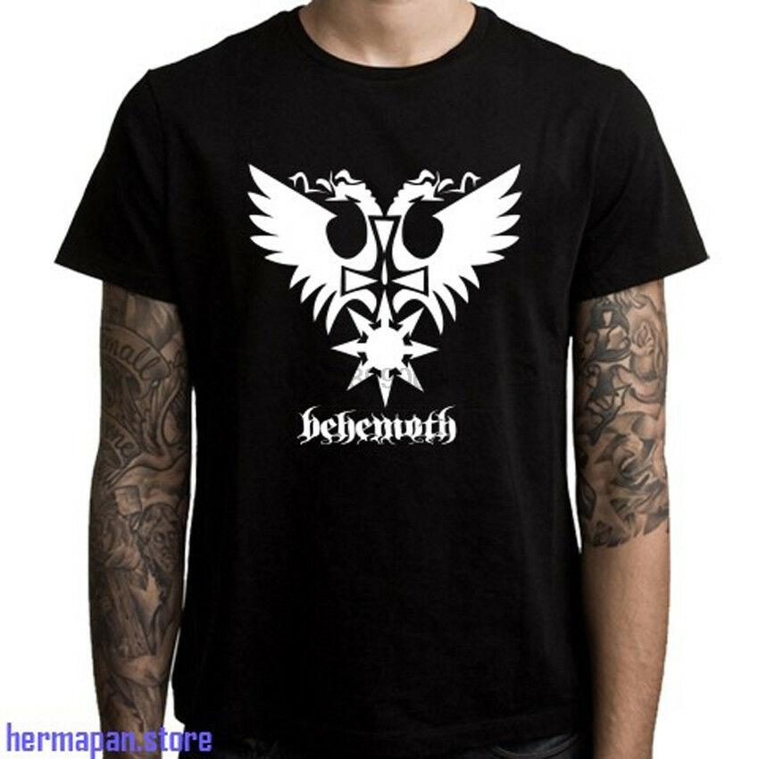 3XL Yeni Behemoth Black Metal Bant Logo Erkek Siyah Tişört Boyut S