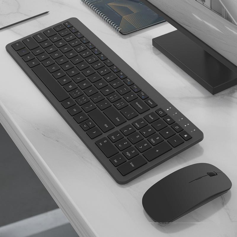 2.4G sem fio ultra-fino teclado silencioso mouse Multimedia Keyboard Gaming Mouse Para Macbook Pro computador Ergonomic Ratos Teclado
