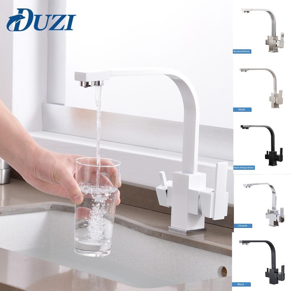 Miscelatore della cucina filtrati i rubinetti dell'acqua girevole da 360 gradi potabile del rubinetto di acqua in ottone massiccio corpo con acqua calda e fredda Rubinetti Crane T200810