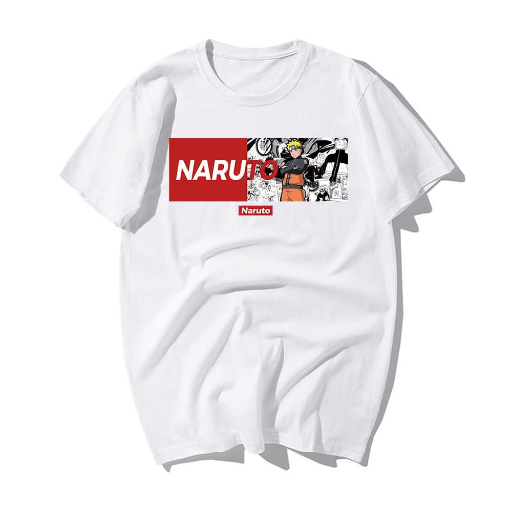 Raffreddare Harajuku Naruto maglietta Streetwear uomini Summer Fashion Amine maglietta casuale del fumetto Stampa Camicie Uomo divertente Giappone maglietta dei ragazzi