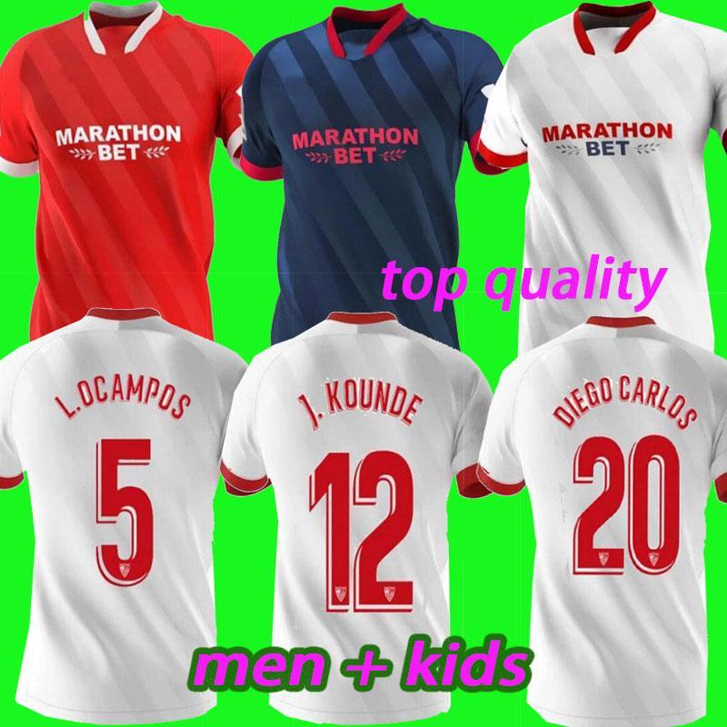 Новые Мужчины + Дети 20 21 Футбол Детки 2020 2021kids Kit Home Выезд Третья футболка