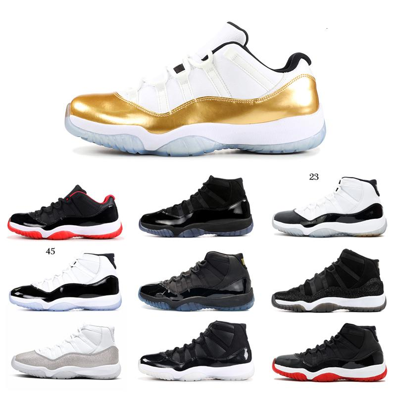 Hot 11s Men Basketball Shoes Snakeskin Cap and Gown Concord Orange Trance Low Bred Women Mens Trainer Sports Sneakers 5.5-13