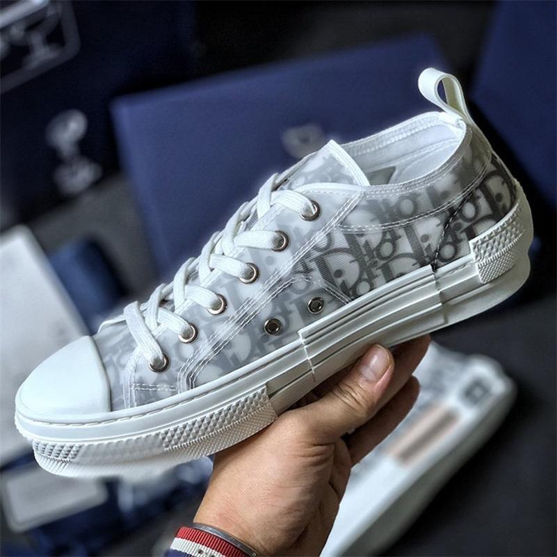 2020 High Top Dior Air B23 Jordan 1 Kanye Oblique Bleu Baixa KAWS Kim Jones Hommes Slipper Triplo Basketball Sneakers Shoes 36-45