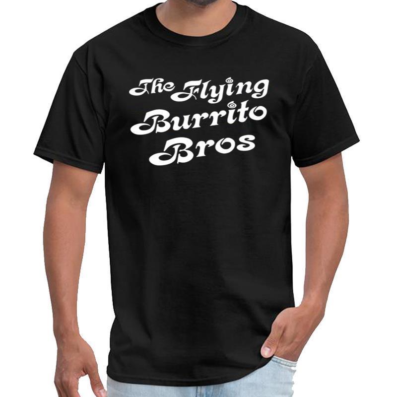 Impresión de los picos gemelos Flying Burrito Brothers camiseta homme Serbia camiseta de gran tamaño s Top del ~ 5xL